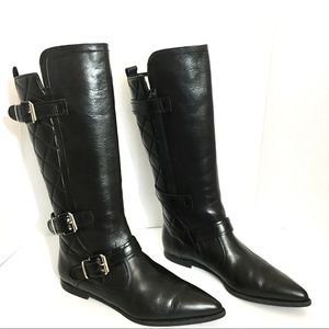 Burberry quilted riding boots